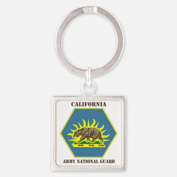 California ANG with text Square Keychain