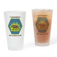 California ANG with text Drinking Glass