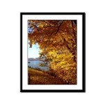 Leaves and Water Framed Panel Print