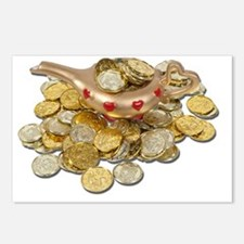 MagicLampGoldCoins052711 Postcards (Package of 8)