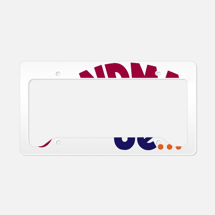 GrandmaToBe License Plate Holder