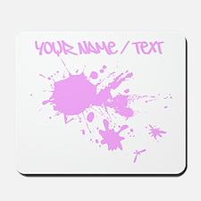 Pink Ink Splatter Mousepad