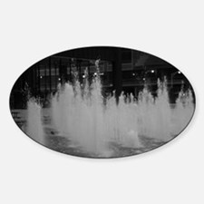 bw daley center fountain Sticker (Oval)