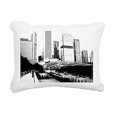 bw millennuimpark sketch Rectangular Canvas Pillow