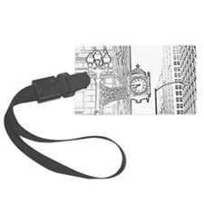 bw sketch filter marshall fields Luggage Tag