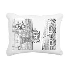 bw sketch filter marshal Rectangular Canvas Pillow