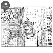 bw sketch filter marshall fields clock Puzzle