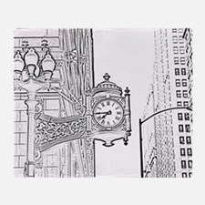 bw sketch filter marshall fields clo Throw Blanket