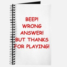 WRONG answer Journal