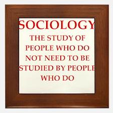 sociology Framed Tile