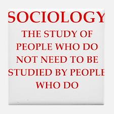 sociology Tile Coaster
