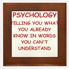 psychology Framed Tile