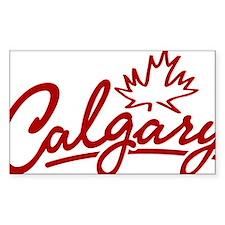 Calgary Leaf Script W Decal
