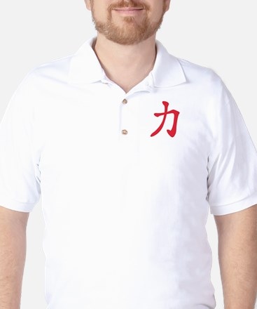 Chinese sign strength Golf Shirt