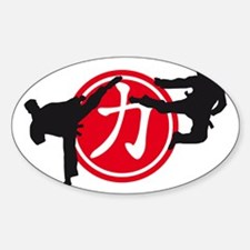 Chinese sign strength Sticker (Oval)