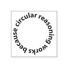 "circular Square Sticker 3"" x 3"""