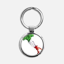Italian Flag Map Round Keychain
