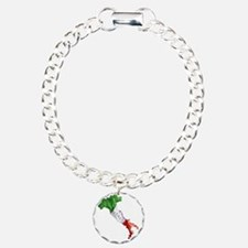 Italian Flag Map Charm Bracelet, One Charm
