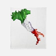 Italian Flag Map Throw Blanket