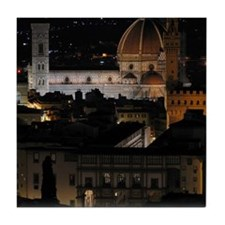 Duomo (Florence Cathedral) at Night Tile Coaster
