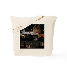 Duomo (Florence Cathedral) at Night Tote Bag
