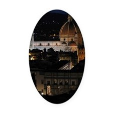 Duomo (Florence Cathedral) at Nigh Oval Car Magnet