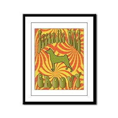 Groovy Basenji Framed Panel Print