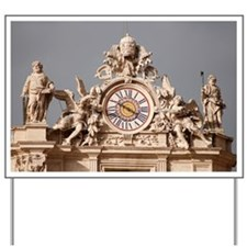 St. Peters Basilica Clock Yard Sign