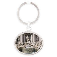 Trevi Fountain Oval Keychain