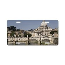 Vatican over the River Aluminum License Plate