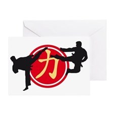 Chinese Sign Strength Karate A 3c Greeting Card
