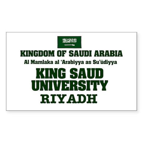 SAUDI ARABIA - KING SAUD UNIVE Sticker (Rectangle)