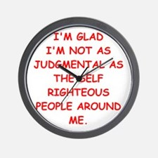 self righteous Wall Clock