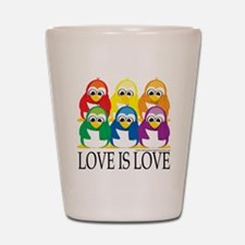 Love-Is-Love-Penguins-Stacked Shot Glass