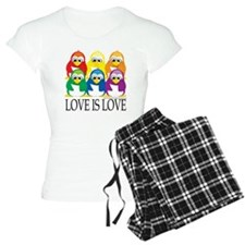 Love-Is-Love-Penguins-Stack Pajamas