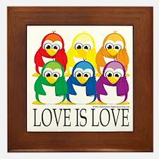 Love-Is-Love-Penguins-Stacked Framed Tile