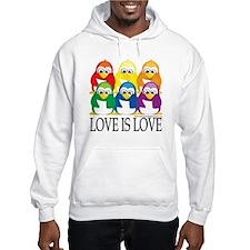Love-Is-Love-Penguins-Stacked Hoodie