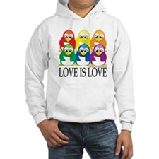 Love-Is-Love-Penguins-Stacked Jumper Hoody