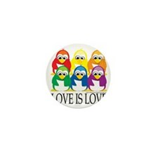 Love-Is-Love-Penguins-Stacked Mini Button