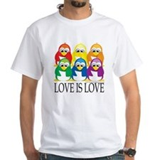 Love-Is-Love-Penguins-Stacked Shirt