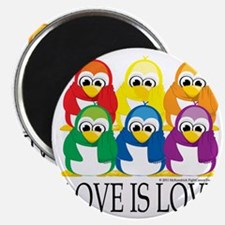 Love-Is-Love-Penguins-Stacked Magnet