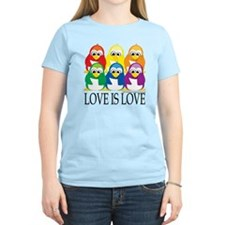 Love-Is-Love-Penguins-Stacke T-Shirt