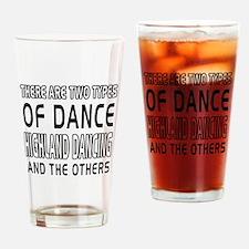 Highland dancing Dance Designs Drinking Glass