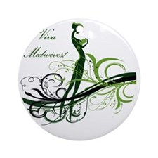 viva midwives Round Ornament