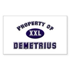 Property of demetrius Rectangle Decal