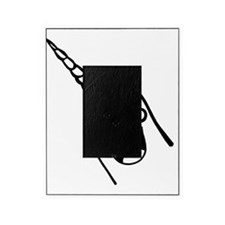 Happy Narwhal Black Picture Frame