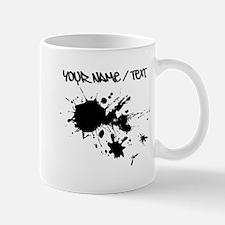 Black Ink Splatter Mugs