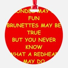 redhead Ornament