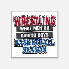 "what men do Square Sticker 3"" x 3"""