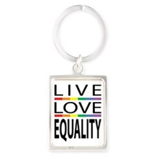 Live-Love-Equality Portrait Keychain